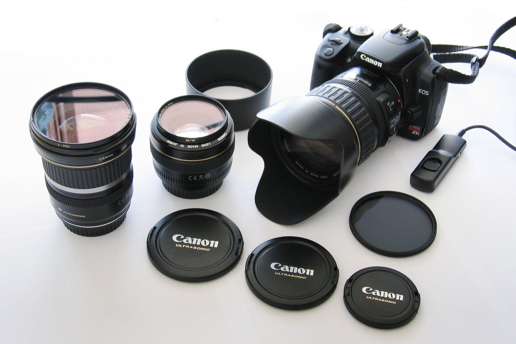 Выбор фототехники с образцами фотографий