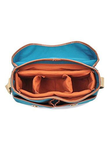 Kattee Vintage PU leather/ Canvas DSLR Shoulder Bag