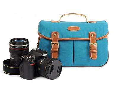 Kattee Vintage PU leather/ Canvas DSLR Shoulder Bag