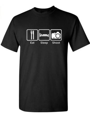 EatSleepTee Photography Enthusiast T-Shirt