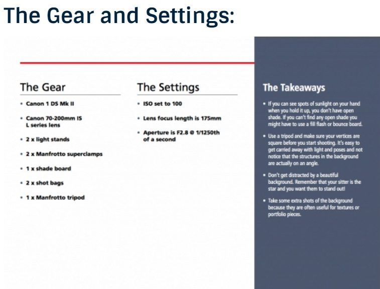 Gear and setting