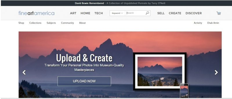 Create Online Photo Album Through Fine Art America