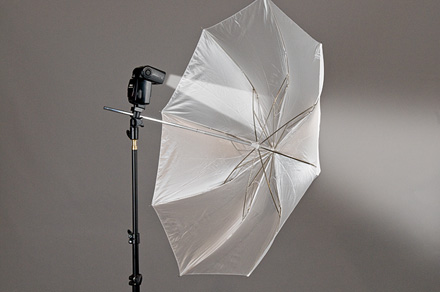 shooting through umbrella