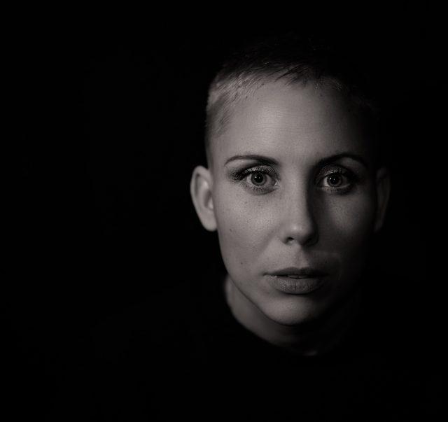 sudio photo with black background