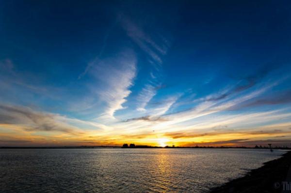 sun set landscape