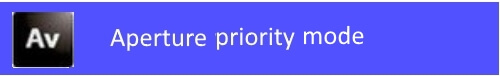 aperture priority mode