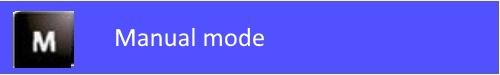 manual mode