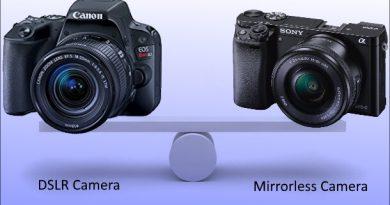comparison DSLR & mirrorless camera
