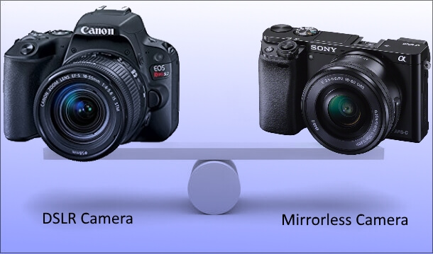 comparison DSLR & mirrorless camera