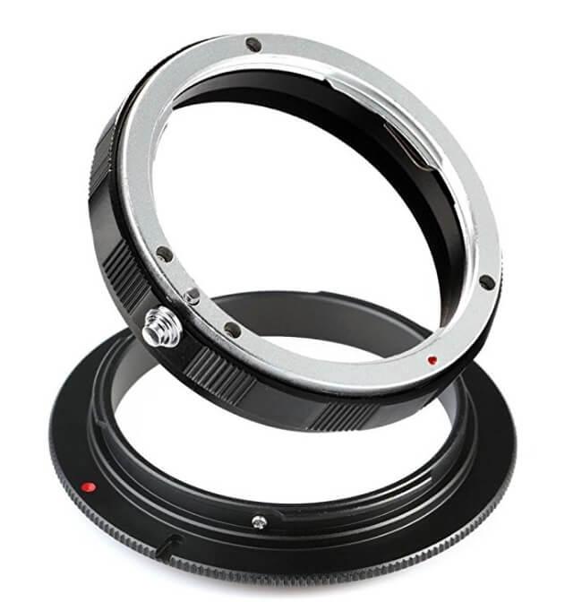 reverse lens adaptor
