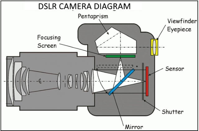 DSLR camera diagram