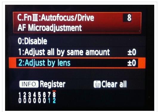 adjust lens