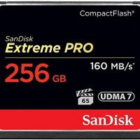 SanDisk Extreme PRO 256GB CompactFlash Memory Card UDMA 7 Speed Up To 160MB