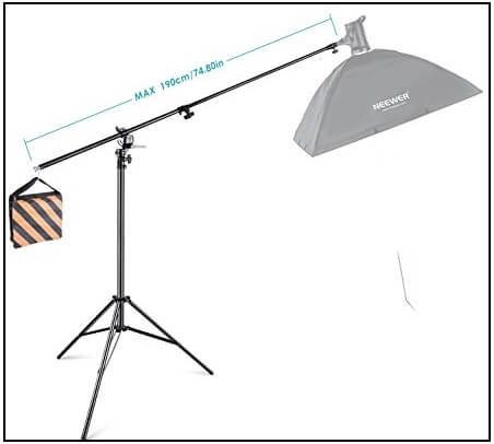 Adjustable Tripod Boom Light Stand