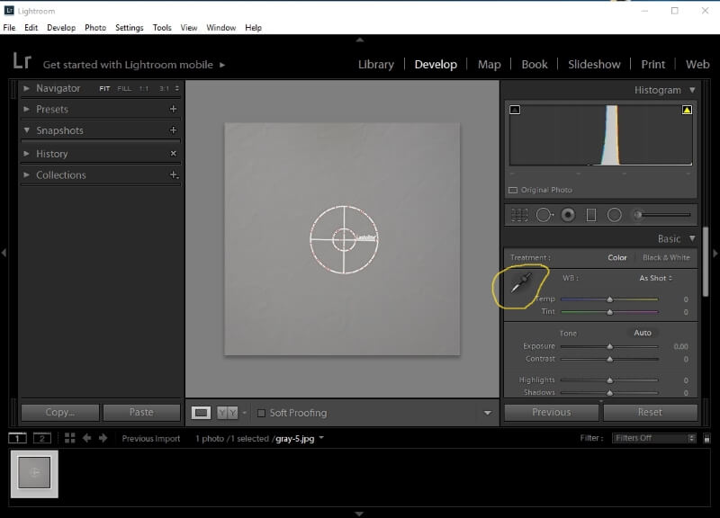 lightroom menu