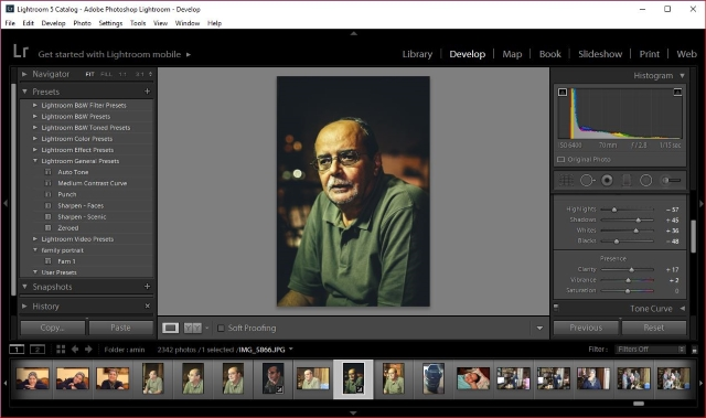Lightroom - develop module