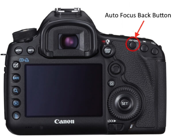 back focus button