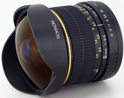 Rokinon FE8M-C 8mm F3.5 Fisheye Fixed Lens for Canon