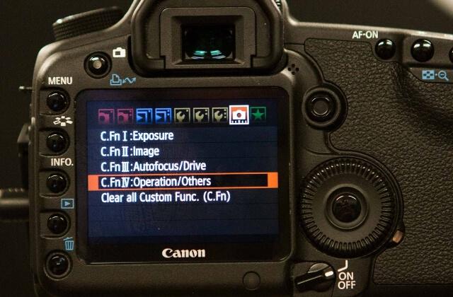 Canon menu