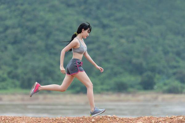 A running woman