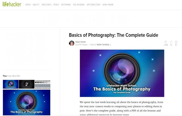 Basics of Photography- The Complete Guide