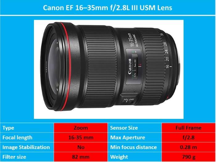 Canon EF 16–35mm f 2.8L III USM Lens