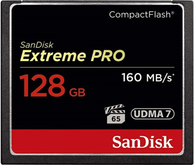 SanDisk Extreme PRO 128GB CompactFlash Memory Card