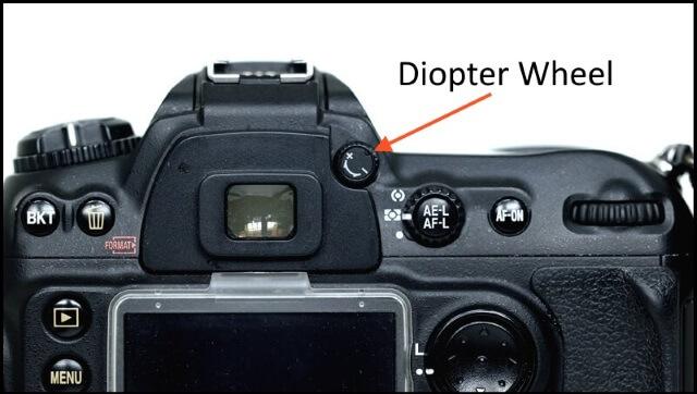 Camera diopter