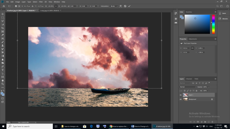 How to Change a Sky in Photoshop