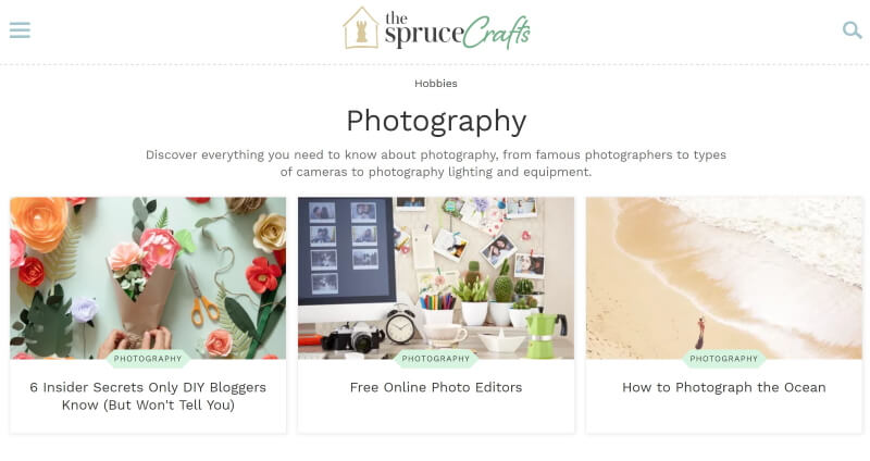 The Spruce: Photography