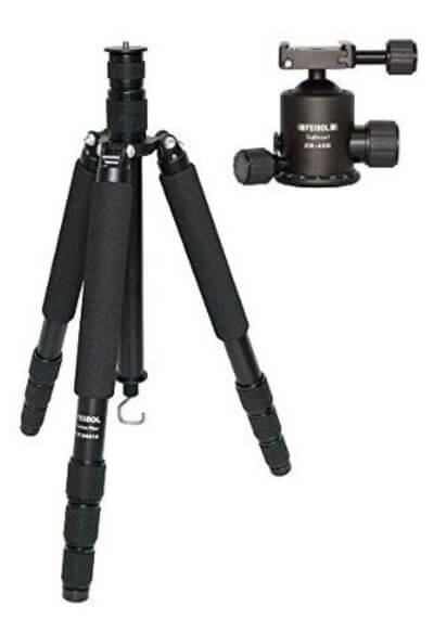 Feisol Traveler 4 Section Carbon Fiber Tripod with CB-40D Ball Head