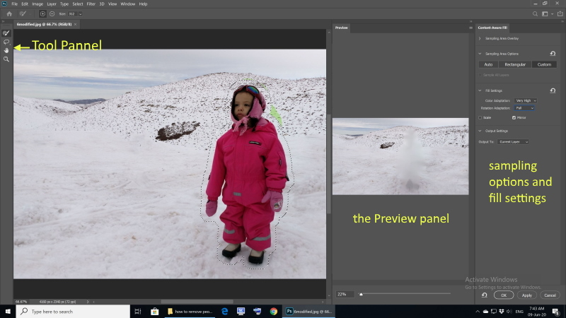 how to remove people from photo