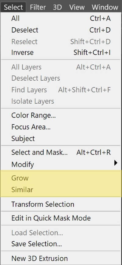 what are the selection tools in Photoshop