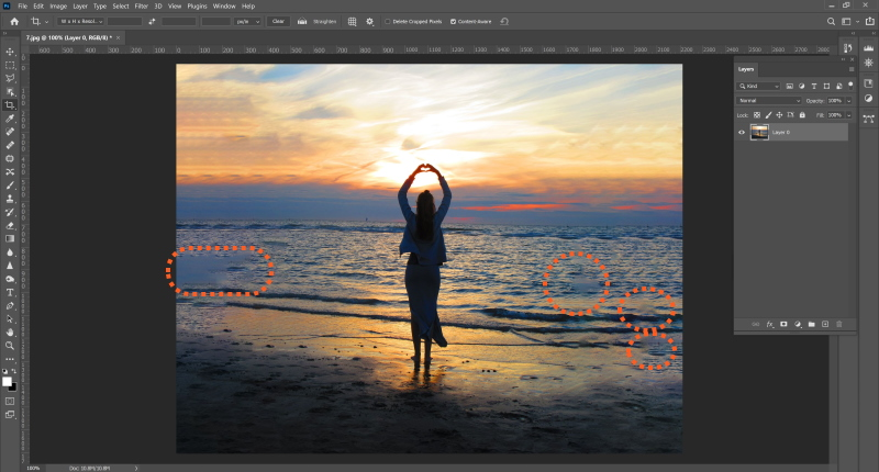 How to Stretch Image - Photoshop