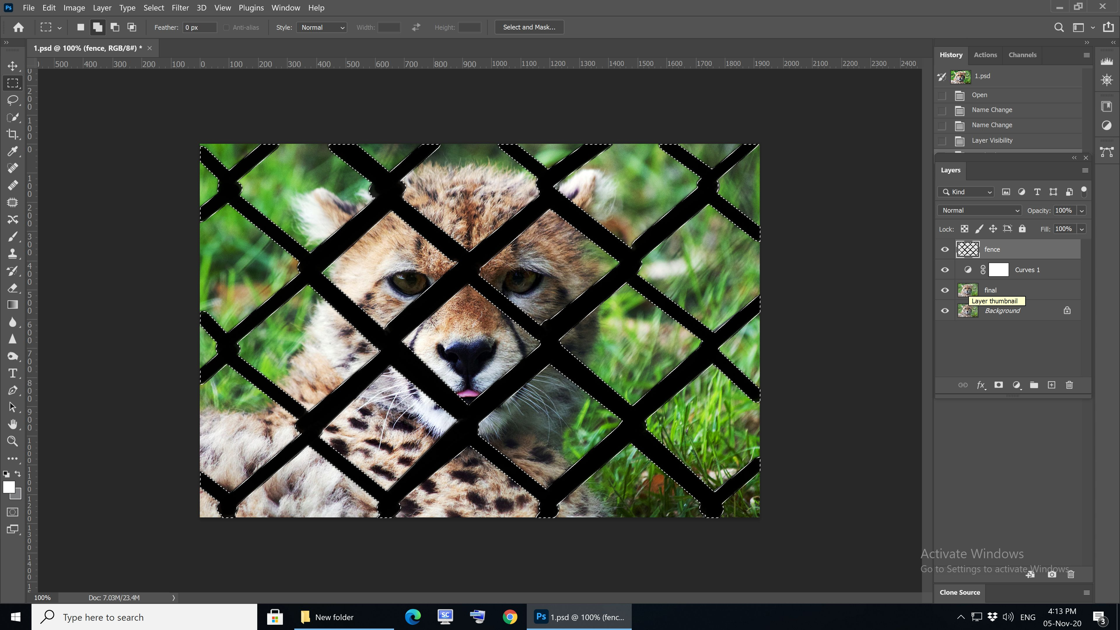 Remove Fence in Photoshop